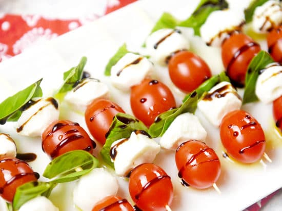 Caprese Salad Skewers · Easy Caprese Appetizer