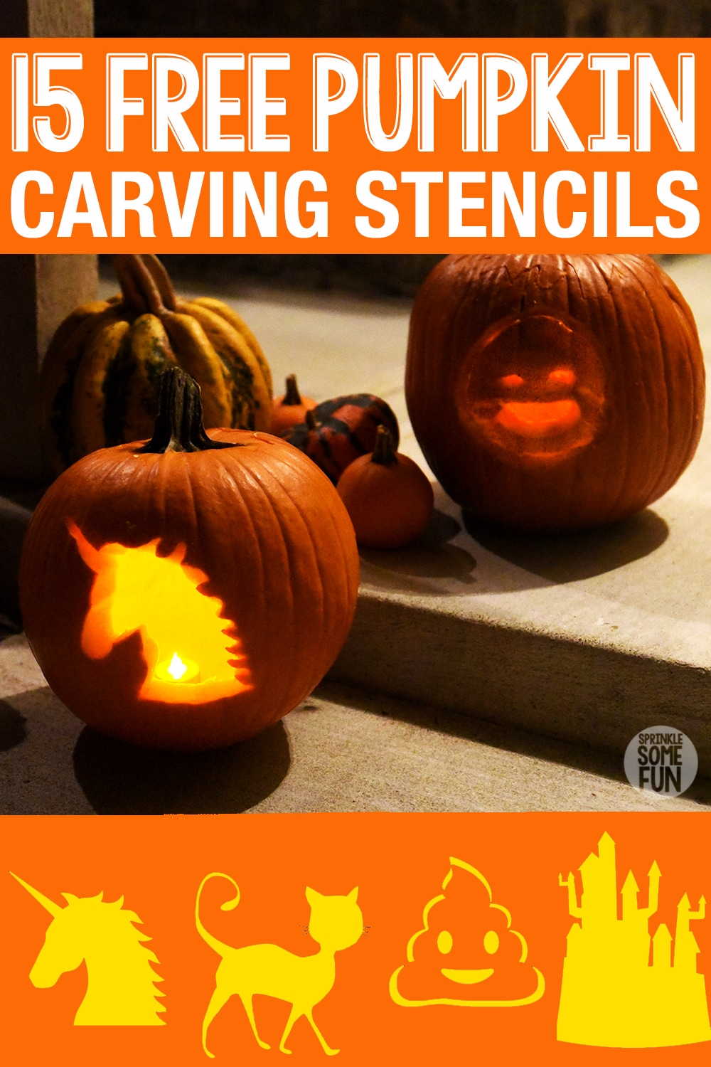 image relating to Pumpkin Stencils Free Printable named 15 No cost Pumpkin Carving Stencils Printables Pointers