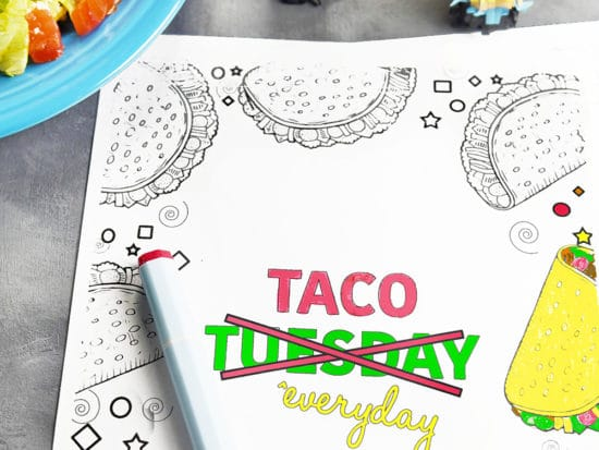 5 FREE Funny Taco Quotes Coloring Pages