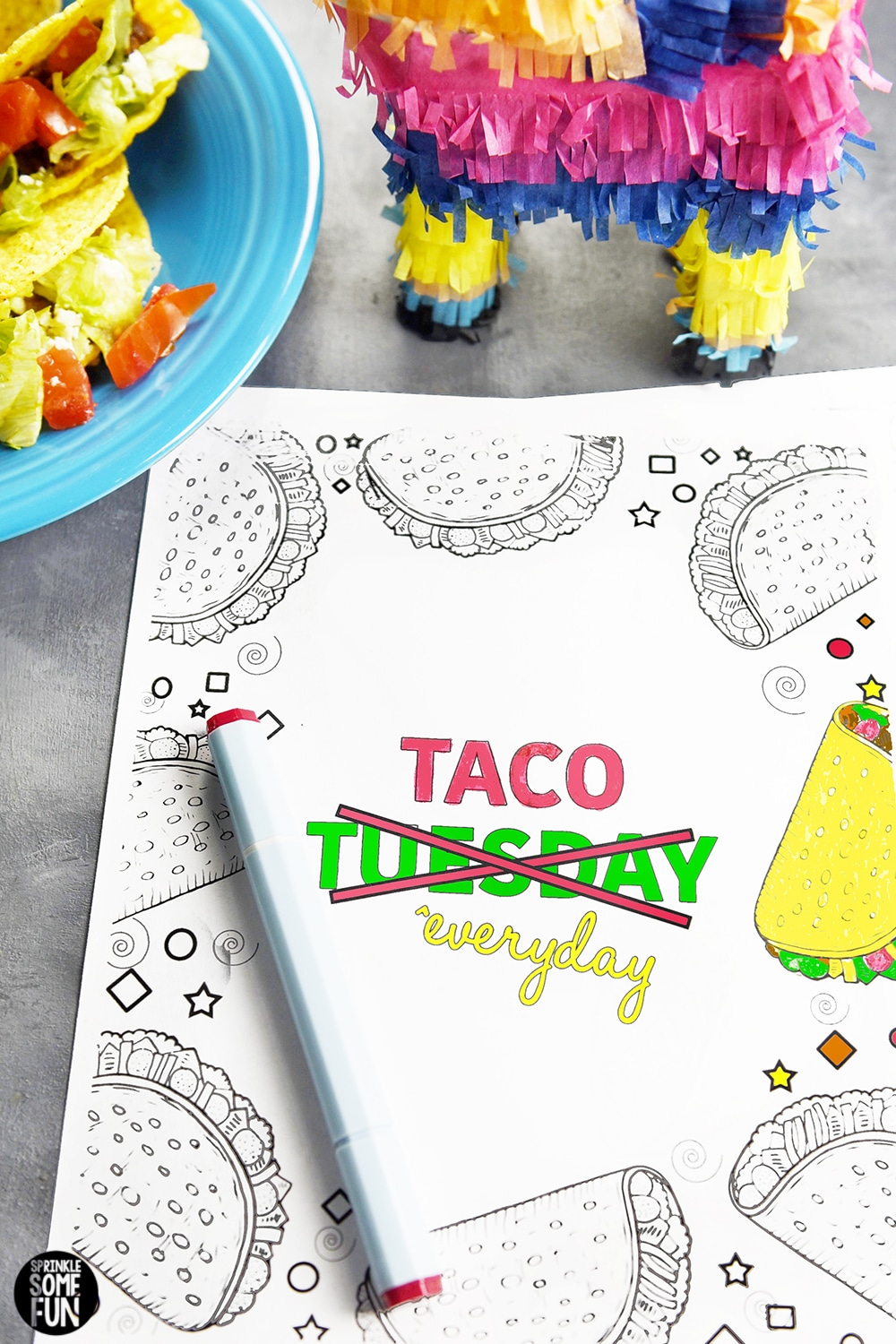 5 Free Funny Taco Quotes Coloring Pages Sprinkle Some Fun