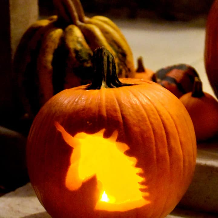 easy pumpkin template unicorn  6 Free Pumpkin Carving Stencils Printables & Tips ...