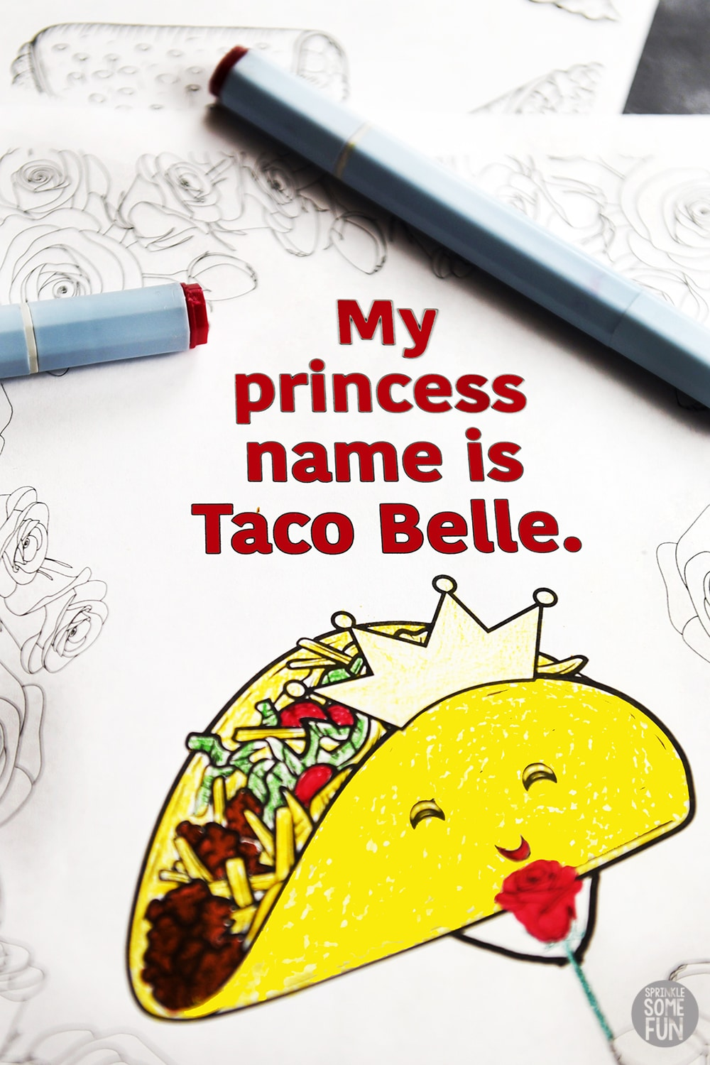 Funny Taco quotes coloring pages