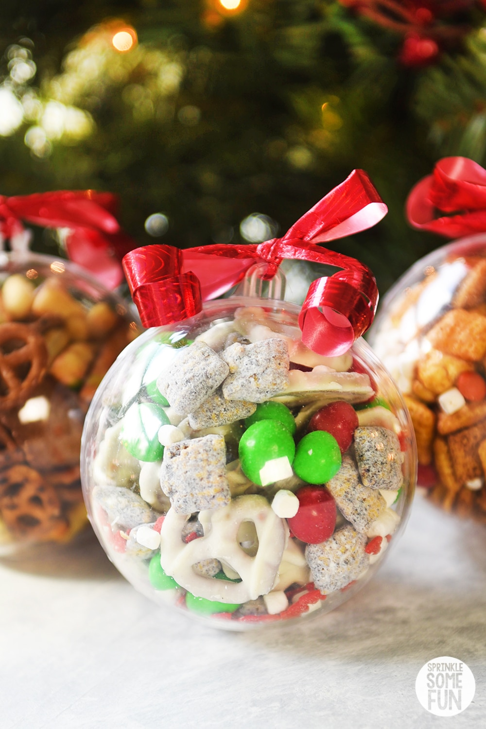 Snack Mix Ornaments Easy Christmas Gift Idea Sprinkle Some Fun