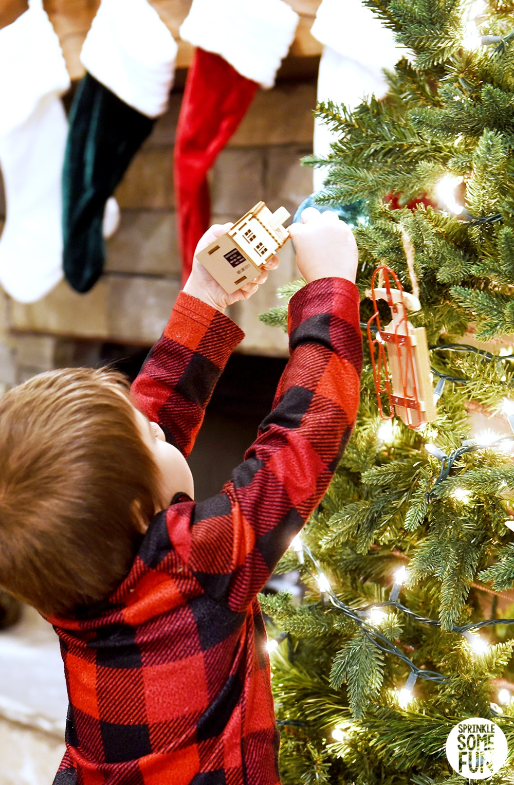 Hanging Ornaments on tree stress free holidays