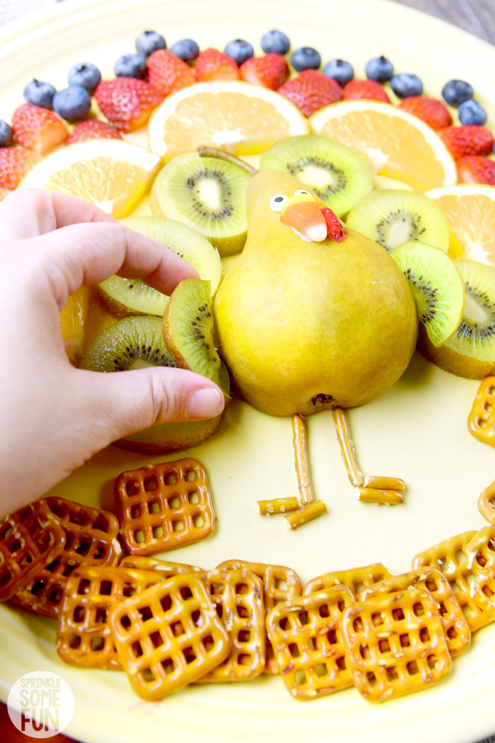 Turkey Fruit Platter ⋆ Easy Thanksgiving Fruit Tray