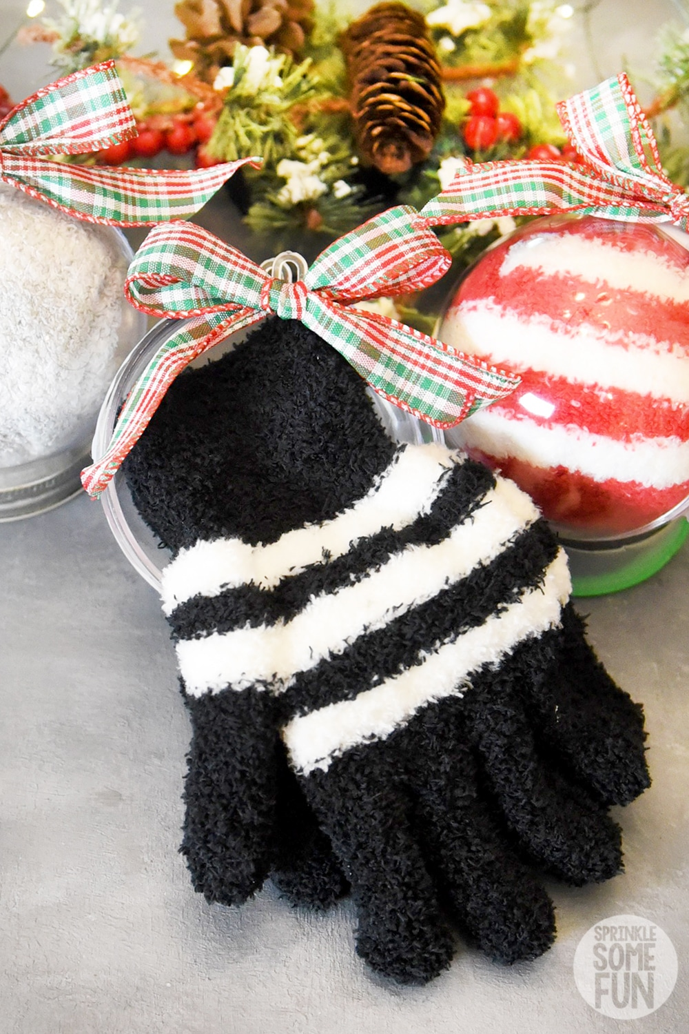 Winter Warmth Ornaments with gloves and socks