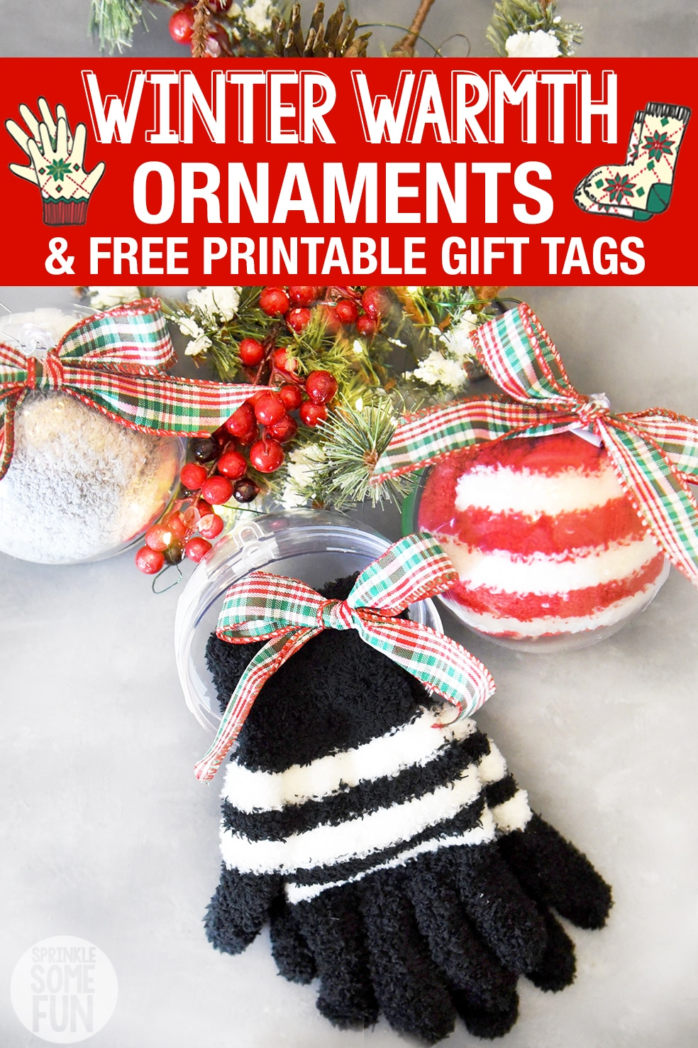 Winter Socks and Gloves Ornaments