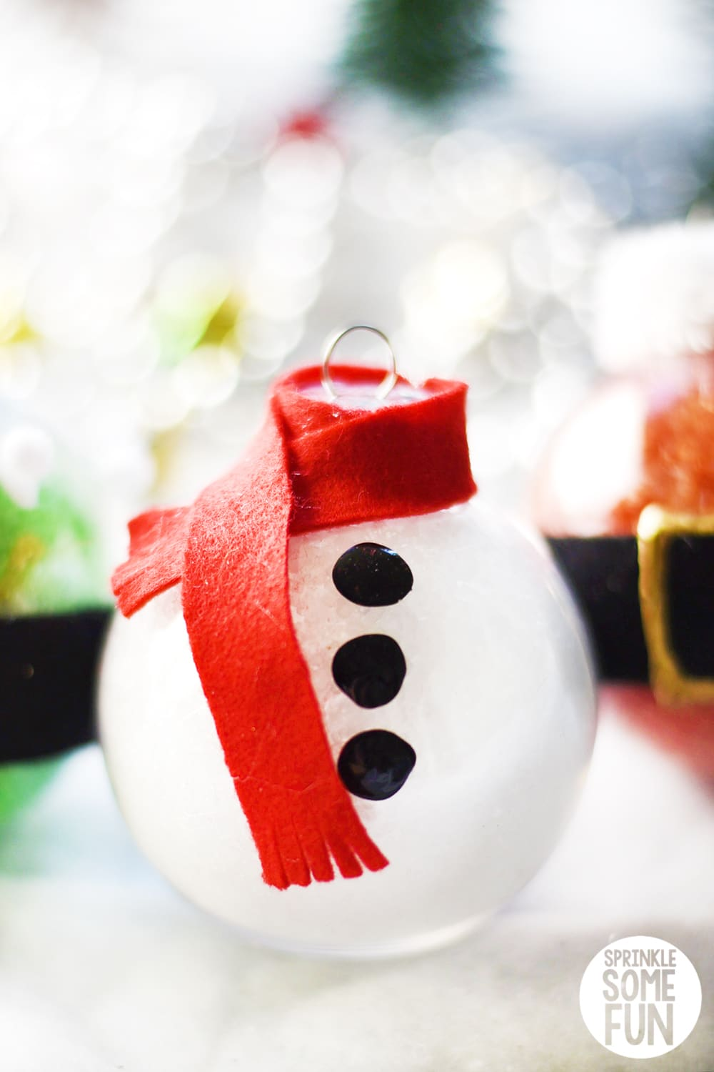 Snowman Bath Salt Ornaments for christmas