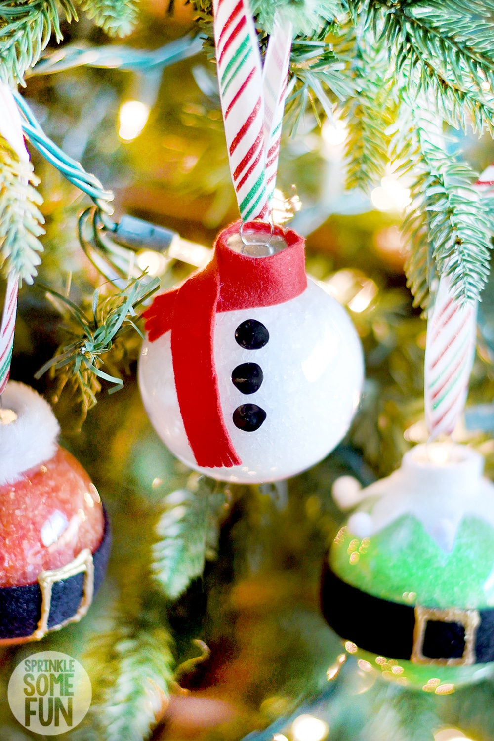 Snowman Bath Salt Ornaments