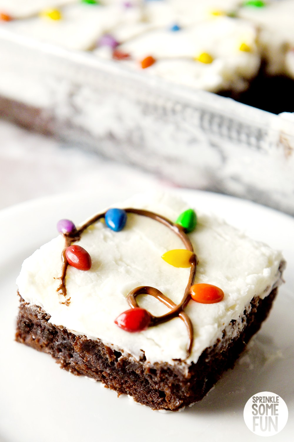 Christmas Lights Brownies Cute