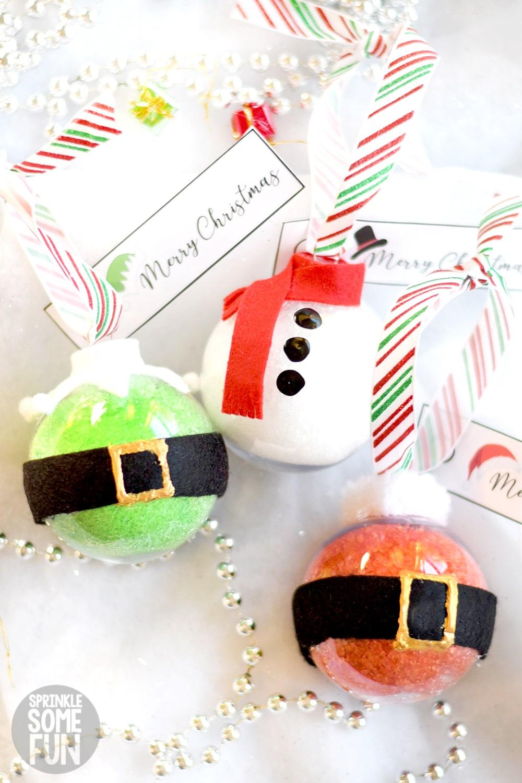 Easy Bath Salt Ornaments
