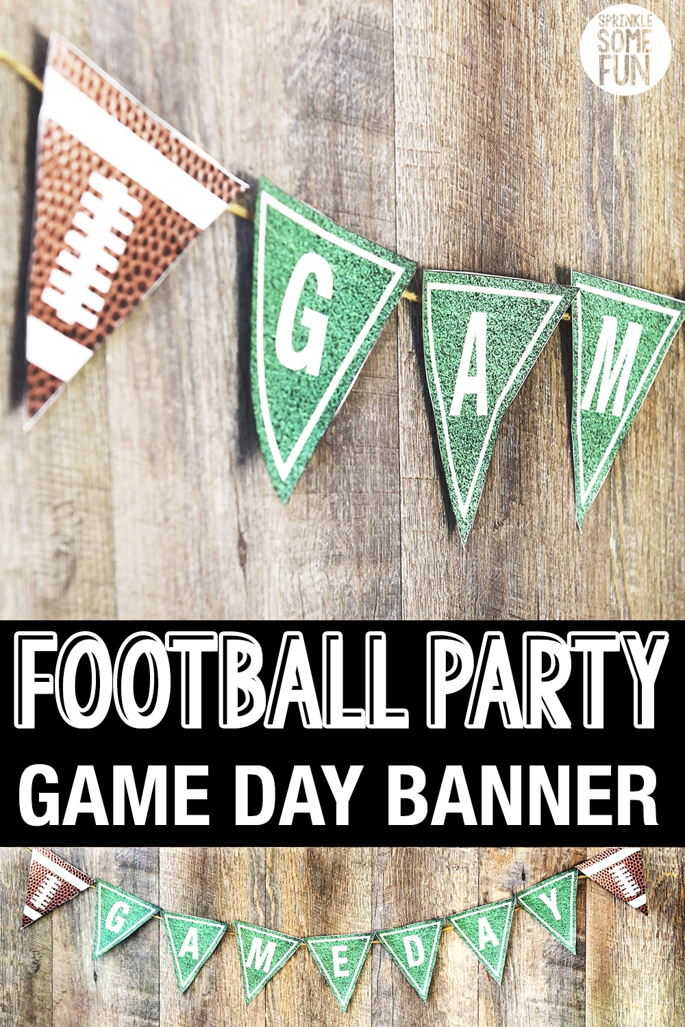 Printable Football party banner