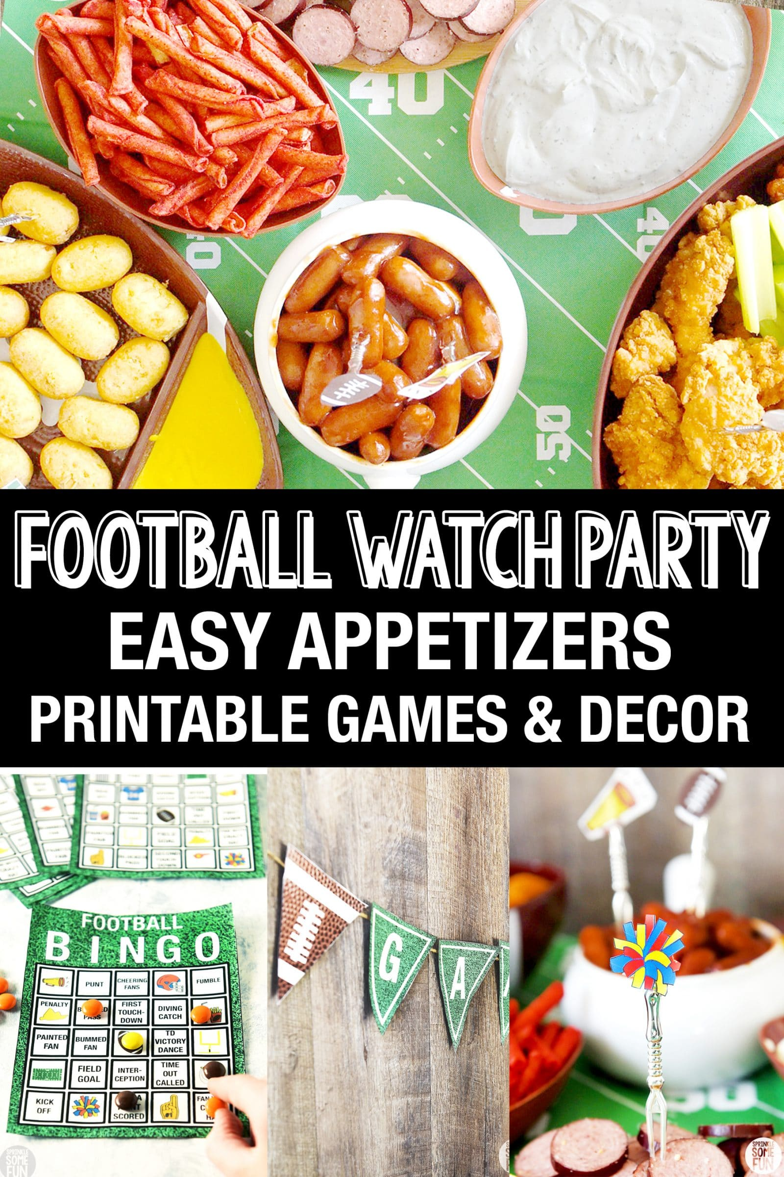 Football Watch Party with printables and games